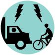 Observed Bicyclist and Truck Conflict