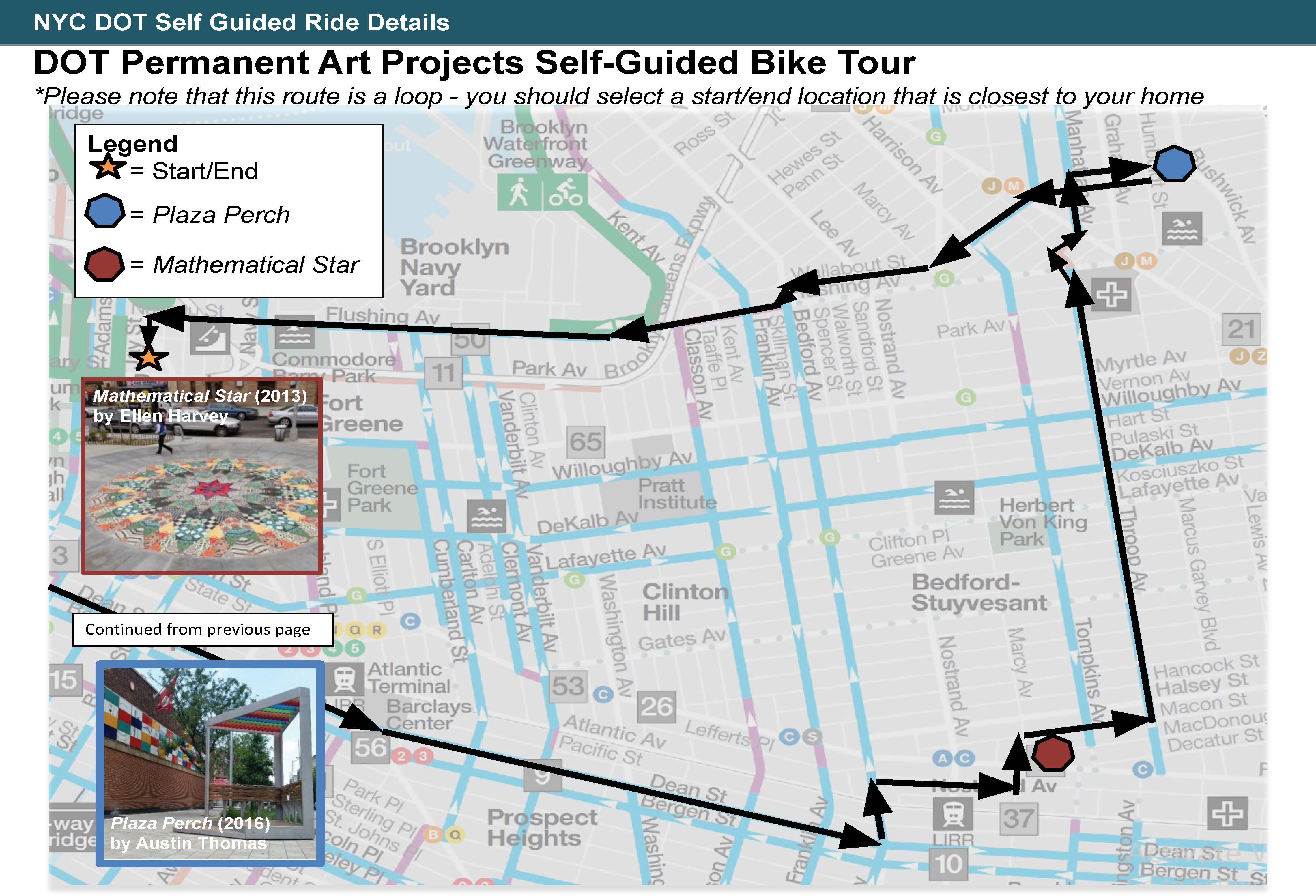 DOT Permanent Art Projects Self-Guided Bike Tour Part 2