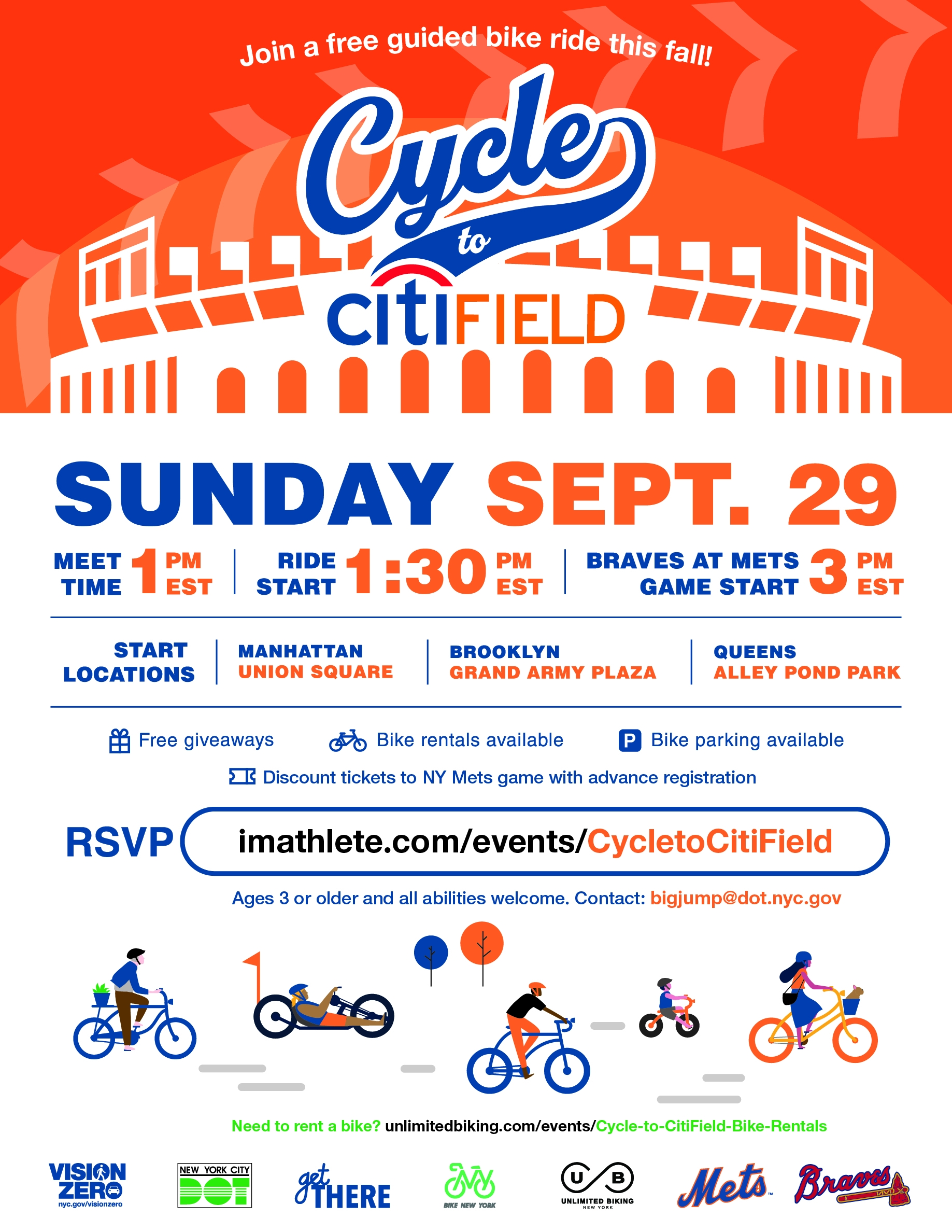 cycle to citi field flyer