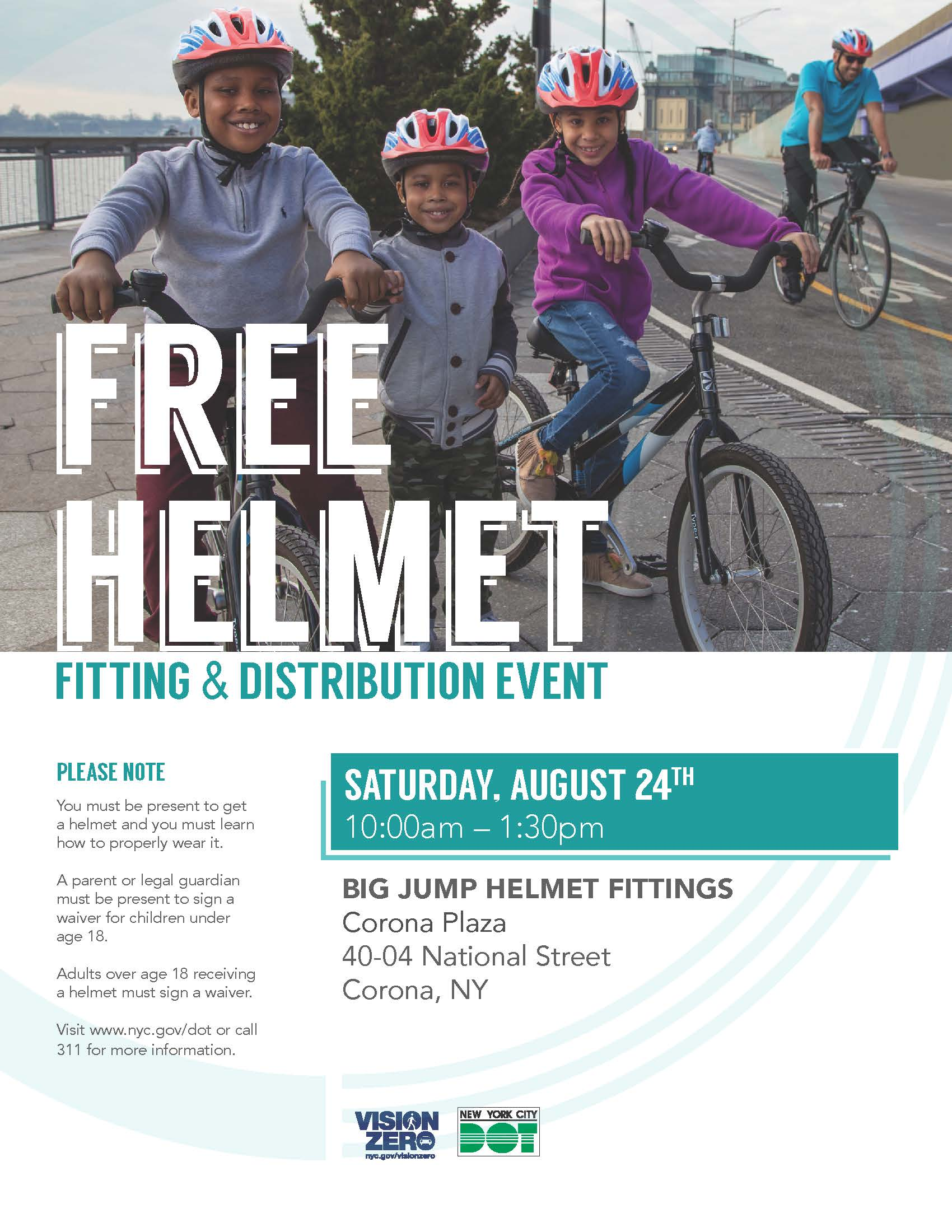 Free Helmet Giveaway Flyer August 24, 2019 English