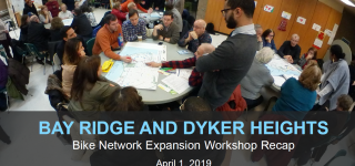 The Bike Network Expansion Workshop Recap will be given to the T&T Committee on April 1, 2019