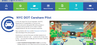 screenshot of nycdotcarshare.info